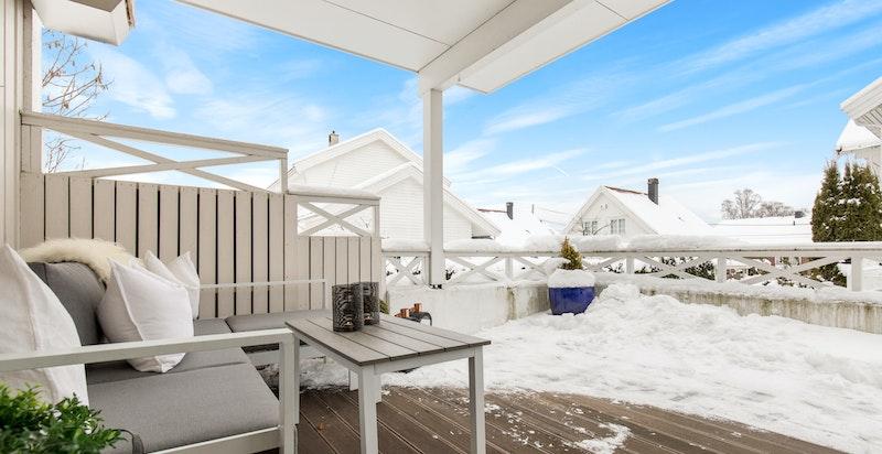 Terrasse med hyggelig utsyn