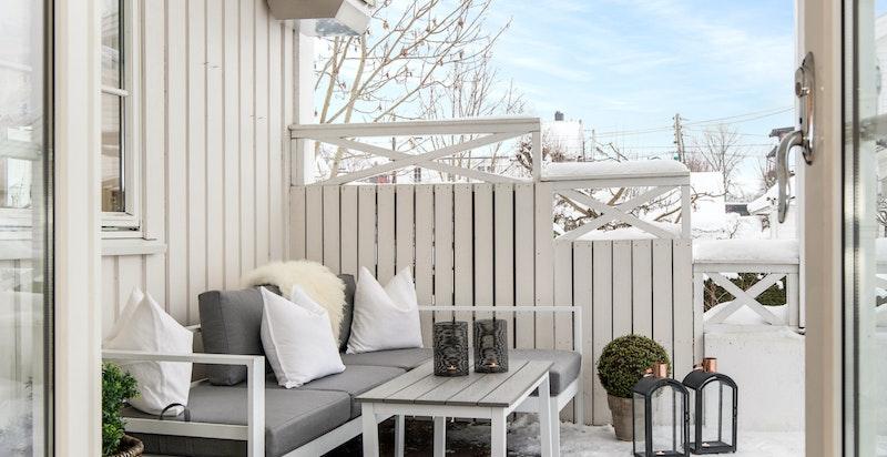 Utgang til terrasse