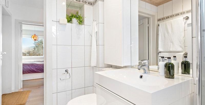 Flislagt bad med badekar