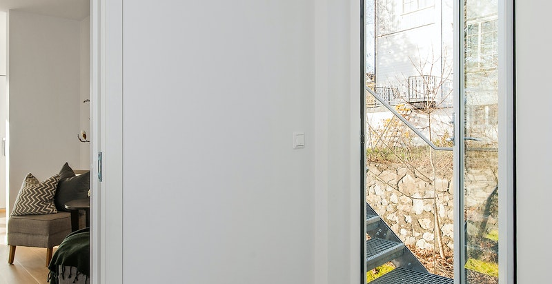 Trapp til takterrasse fra 2. etasje