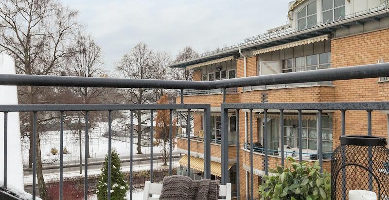 Terrasse med utsikt til Frognerparken