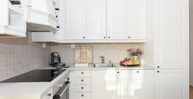 Sigdal-kjøkken med integrerte hvitevarer