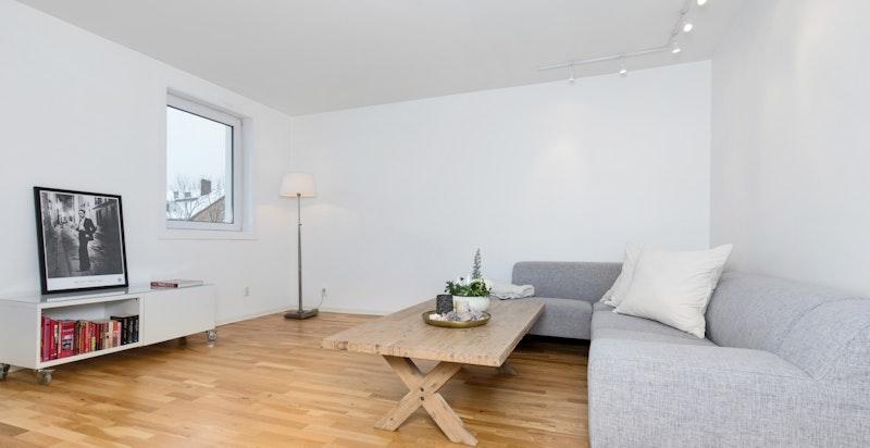 Stue med plass til tv krok
