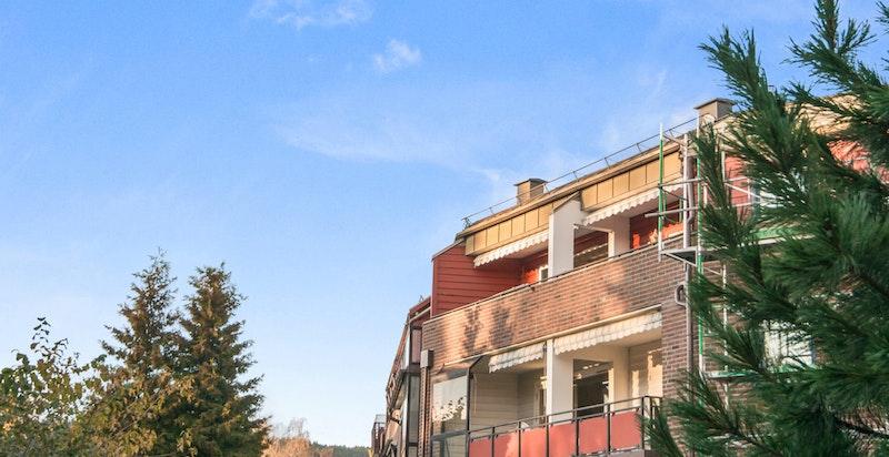 Terrassen er meget usjernert og solrik, på en sen ettermiddag....