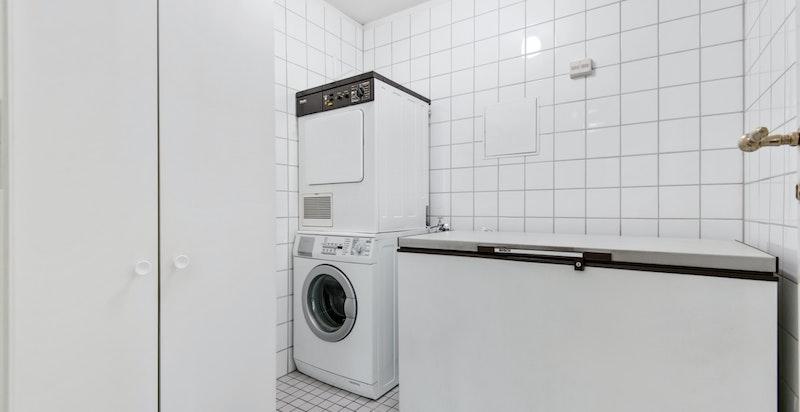 Meget praktisk vaskerom.