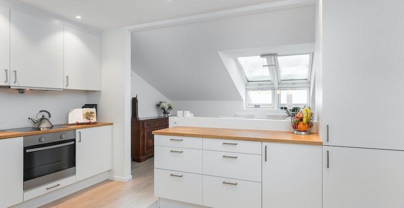 Lekkert kjøkken fra HTH med integrete hvitevarer
