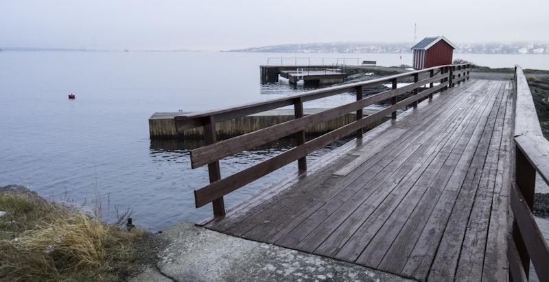 Bryggeanlegget ved Taterholmen som ligger nord på Gaasøen