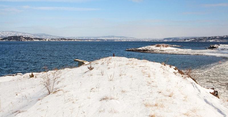 Utsikt fra Rosenholmen  - nordover hvos Oslo skimtes i det fjerne