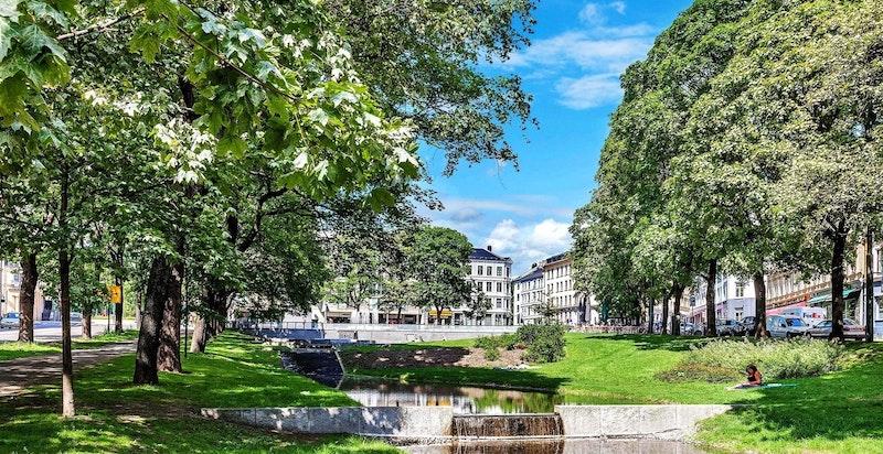 Parken på Alexander Kiellands plass.