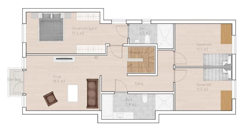 Hus B - 2. etasje