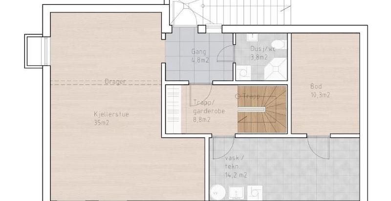Skisse U.etasje/ kjeller