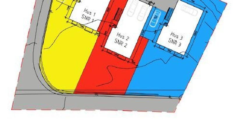Seksjoneringskart (markert i blått)