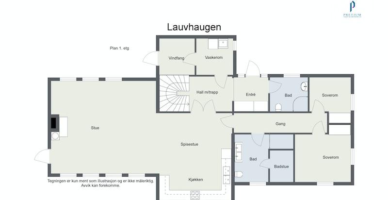 Lauvhaugen - 1. Etasje