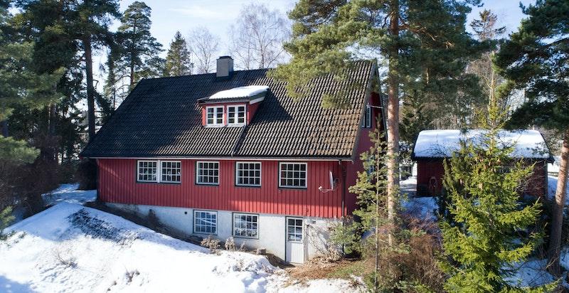 Fasaden på huset