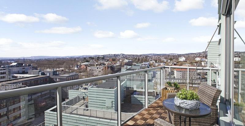 Du skal ikke ha høydeskrekk om du skal ut på denne balkongen