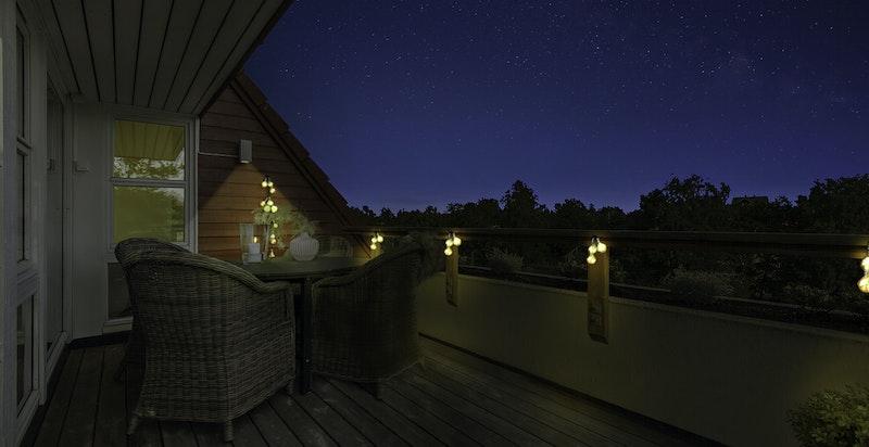Stemningsbilde terrasse kveld