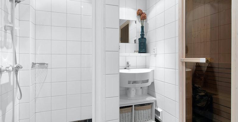 Bad 1 med adgang til badstue