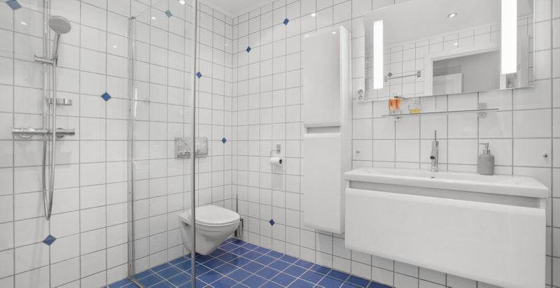 Leiligheten har 2 bad/wc