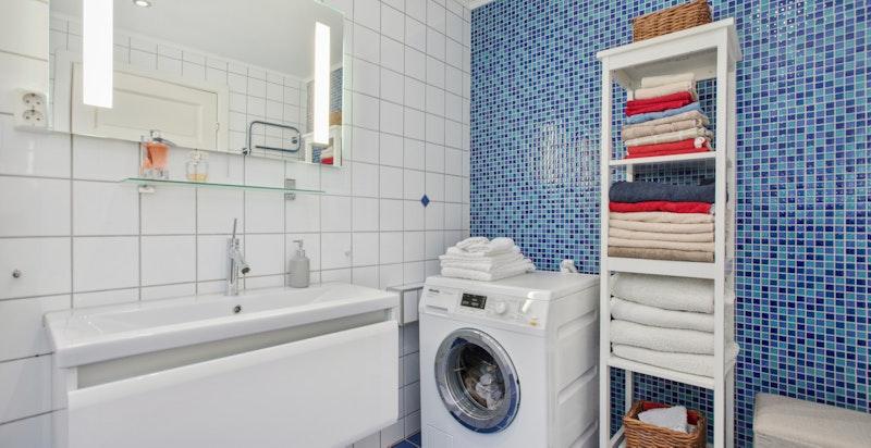 Opplegg for vask-/tørk på begge bad