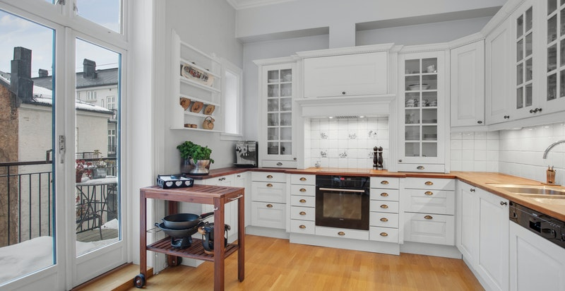 Kjøkken med klassisk innredning