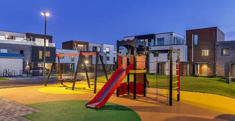 En av lekeplassene på Jessheim Hage.
