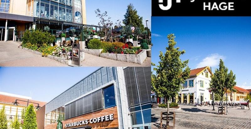 Egon, Starbucks og Kaffebrenneriet har alle etablert seg i sentrum av Jessheim - noen få minutters gange fra Jessheim Hage.