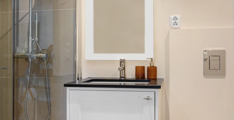 Bad til master (speil blir montert, her illustrert)