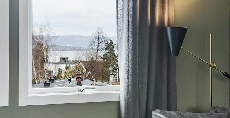 Flott utsikt fra stuevinduet