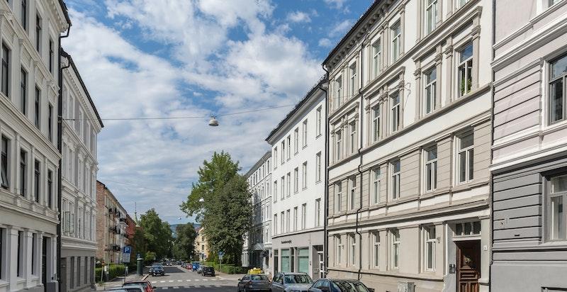 """Schønings gate har en sjeldent god beliggenhet. Stille, men samtidig nærhet til """"alt""""."""