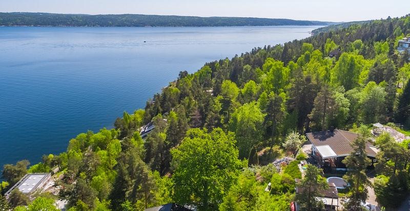 - Utsikt innover Bunnefjorden -