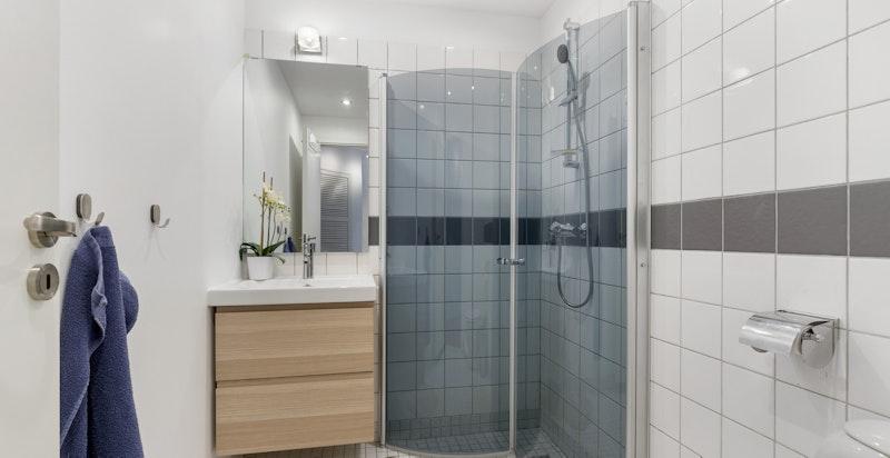Flislagt dusjbad (øvre plan)