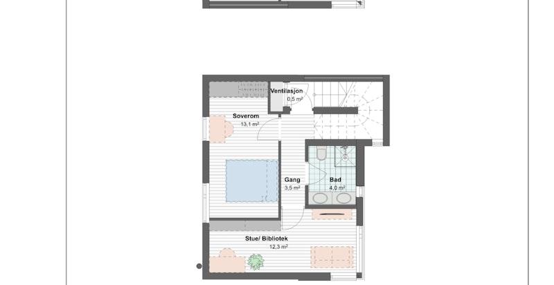 Alternative planskisser til 3. etasje i boligene
