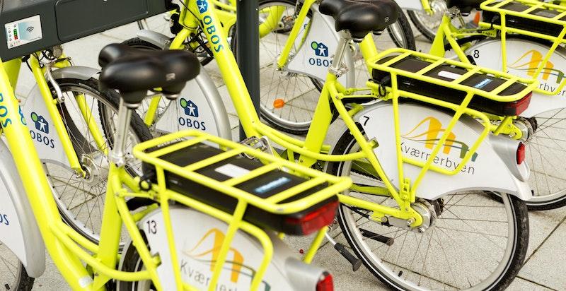 Bysykkelstativ og eget EL-sykkelstativ der sykler kan leies til en rimelig pris for rask adkomst til byen eller en hyggelig søndagstur.