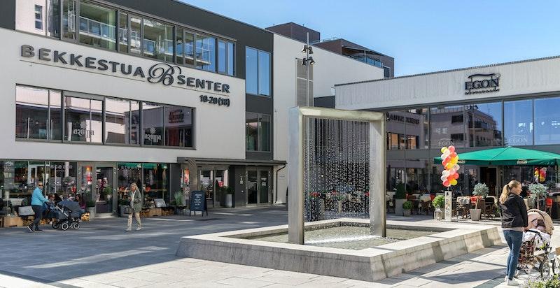 Bekkestua senter har et svært godt tilbud av butikker og serveringssteder