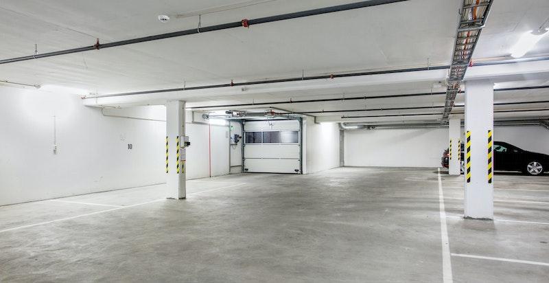 Mulighet for å leie eller kjøpe garasjeplass i bygget