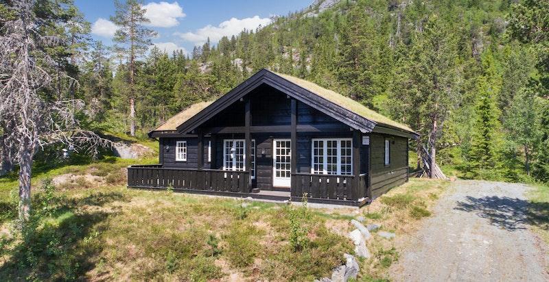 Hyggelig hytte i flott turterreng