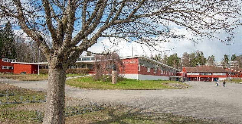 Eiendommen sogner til Hosle barneskole og Hosletoppen ungdomsskole