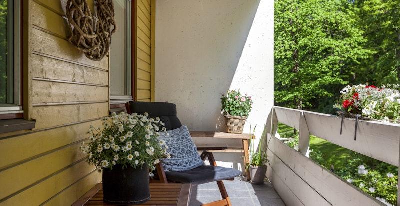Leiligheten har 2 terrasser