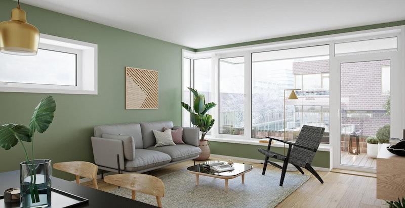 Smakfulle interiørvalg. Gjennom tilvalgsprosessen kan du sette ditt eget preg på din nye bolig.