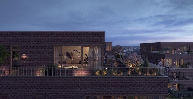 Kveldsillustrasjon Urban Villa Hus C.