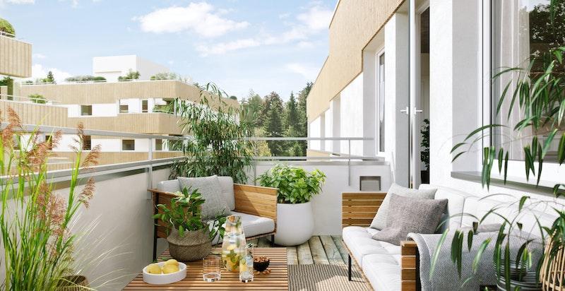 Illustrasjon balkong.