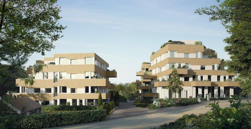 Illustrasjon Parkveien (Hus C ses til høyre). Se mer på www.parkv.no