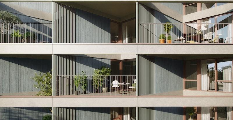 Arkitektonisk særegent byggverk. Illustrasjon.
