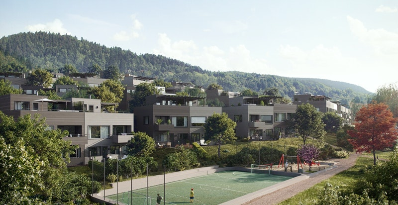 Ett av mange fellesområder i populære Lier Hageby. Kun ment som illustrasjon.