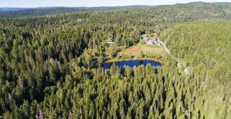 Idyllisk og fredelig beliggenhet mellom Lommedalen og Kleivstua. Helårs bilvei, ca. 35 minutter fra Oslo - ikke boplikt