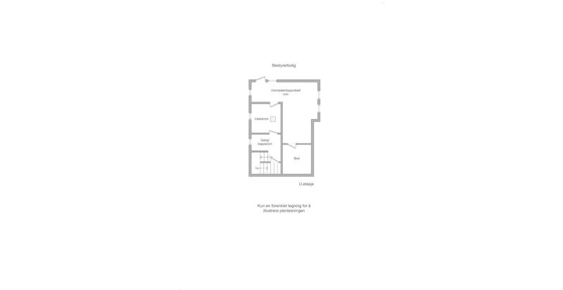 Bestyrerbolig - plantegning u.etasje