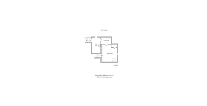 Hovedhus - plantegning kjeller