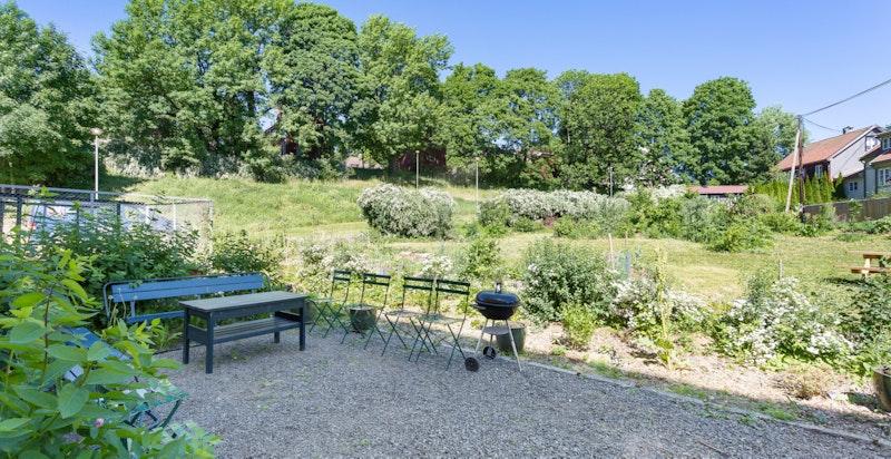 Hyggelige uteområder og kort avstand til flere flotte parker