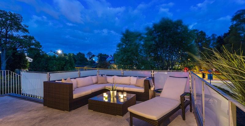 Kveldsbilde balkong