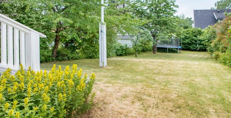 Flaggstang på eiendommen